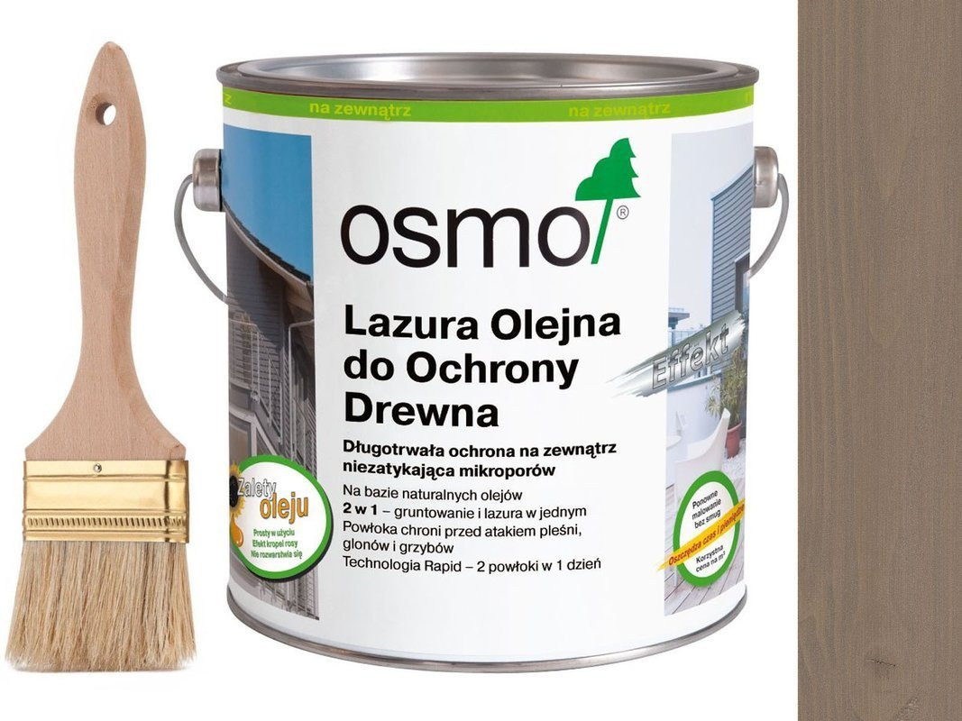 OSMO 1142 Lazura Olejna Efekt SREBRNY GRAFIT 2,5L