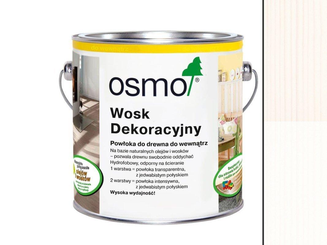 OSMO 3186 wosk dekoracyjny MATOWA BIEL 0,75L