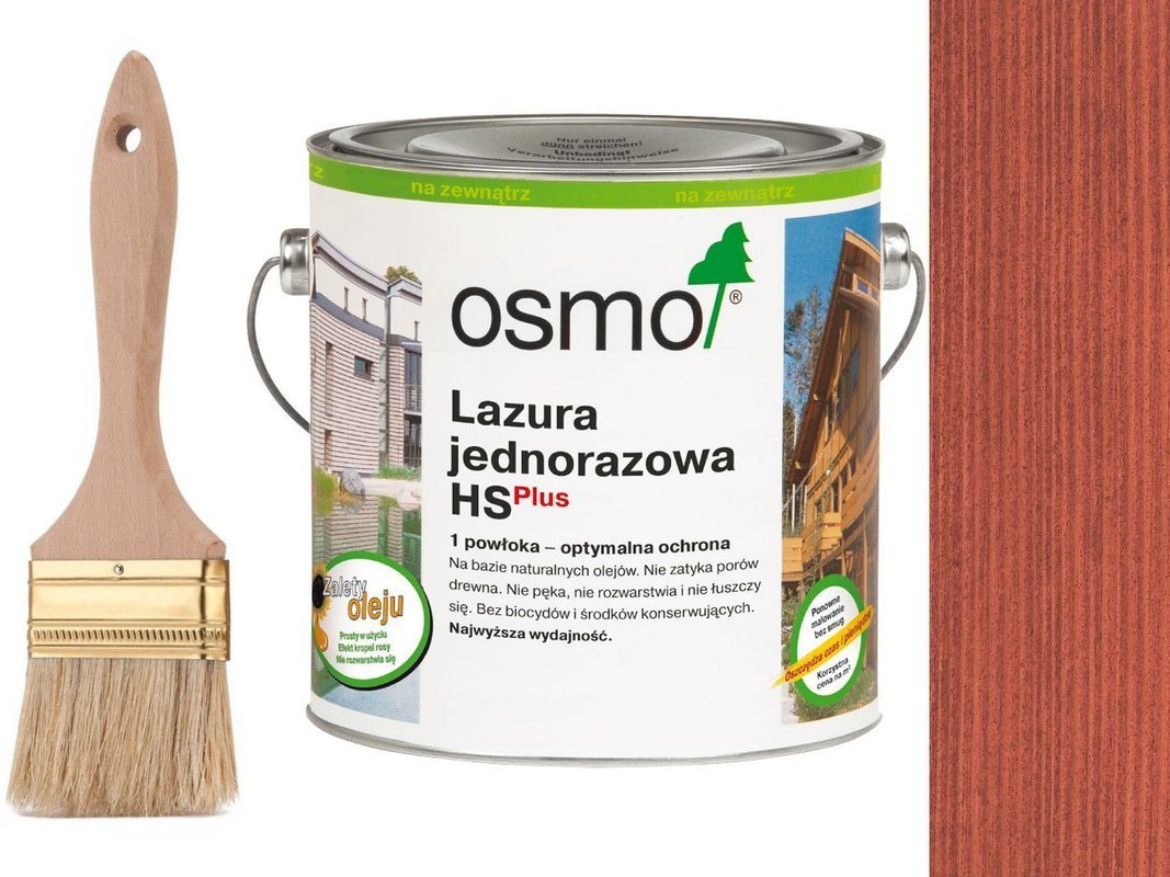 OSMO Lazura Jednorazowa 9234 CZERWIEŃ 2,5L