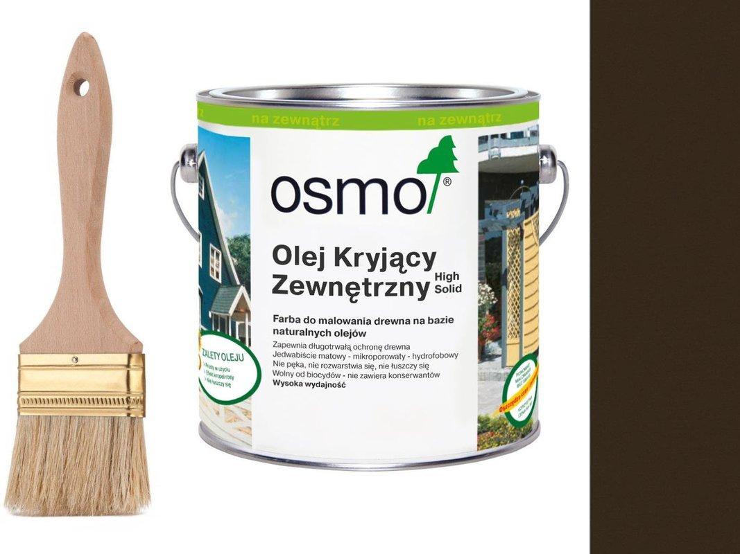 OSMO Olej Kryjący 2607 CIEMNY BRĄZ 0,75L + GRATIS