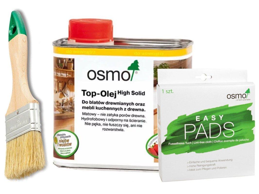 OSMO TOP olej do BLATÓW 0,5L + EASY PADS + PĘDZEL